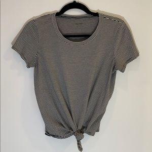 Madewell striped tie t-shirt
